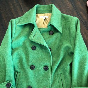 CAbi Green Double Breasted Button Jacket 10